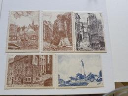 VERVIERS - 5 Cartes : Dessin De Halkin - Verviers