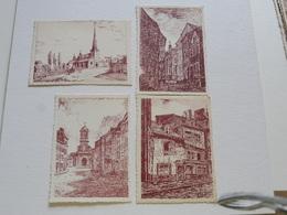 VERVIERS - 4 Cartes : Dessin De Halkin - Verviers
