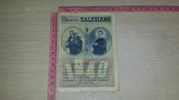 SCO-8275 CALENDARIETTO TASCABILE CALENDARIO SALESIANO 1940 ILLUSTRATA - Calendriers
