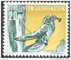 574 Liechtenstein 1955 Mountain Climbing Escalade Alpinisme MNH ** Neuf SC (LIE-22) - Liechtenstein