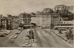 CPSM Suisse, Lausanne, Place Et Rue Du Tunnel - VD Vaud