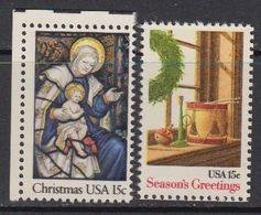 USA 1980 Christmas 2v ** Mnh (41802D) - Verenigde Staten