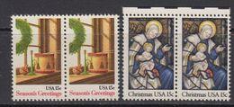 USA 1980 Christmas 2v (pair) ** Mnh (41802E) - Verenigde Staten