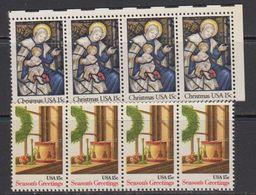 USA 1980 Christmas 2v (strip Of 4) ** Mnh (41802F) - Verenigde Staten