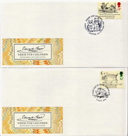 Great Britain Set On 4 FDCs - Fairy Tales, Popular Stories & Legends