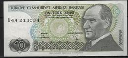 B 132 - TURQUIE Billet De 10 Lires état Neuf 1er Choix - Turquia