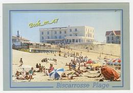 {75587} 40 Landes Biscarrosse Plage , La Plage Et L' Hôtel De La Plage ; Animée - Biscarrosse