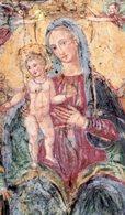 Galatina (Lecce) - Santino MIRACOLOSA IMMAGINE DELLA MADONNA DELLA LUCE - OTTIMO P91 - Religione & Esoterismo