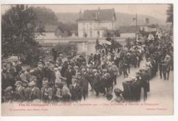 ° 10 ° BAR SUR SEINE ° Char De CHERVEY Et FONTETTE ° Fête Du Champagne Le 4 Septembre 1921 ° Collection Bourgogne ° - Bar-sur-Seine