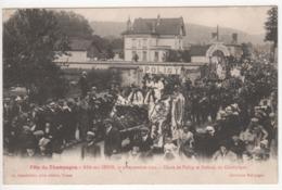 ° 10 ° BAR SUR SEINE ° Char De Polisy Et Polisot ° Fête Du Champagne Le 4 Septembre 1921 ° Collection Bourgogne ° - Bar-sur-Seine
