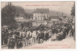 ° 10 ° BAR SUR SEINE ° Char De Neuville Sur Seine ° Fête Du Champagne Le 4 Septembre 1921 ° Collection Bourgogne ° - Bar-sur-Seine