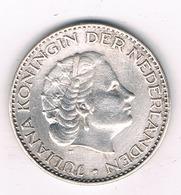1 GULDEN  1957 NEDERLAND /1160/ - [ 3] 1815-… : Kingdom Of The Netherlands