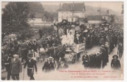 ° 10 ° BAR SUR SEINE ° Char De Ville Sur Arce ° Fête Du Champagne Le 4 Septembre 1921 ° Collection Bourgogne ° - Bar-sur-Seine