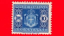 Nuovo - MNH - ITALIA - 1945 - Stemma Senza Fasci, Filigrana Ruota - Segnatasse - 10 Lire - 5. 1944-46 Lieutenance & Humbert II: