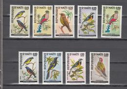Haiti 1969,9V,set,birds,vogels,vögel,oiseaux,pajaros,uccelli,aves,,MNH/Postfris,(A3694) - Birds