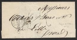 1849 - LSC - PARIS A LILLE  - C.à.d Ambulant LIGNE DE CALAIS Nº 2 28 OCT 49 - Postmark Collection (Covers)