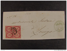 """4539 ITALIA Regno-1875- """"Servizio Di Stato"""" C. 0,05 VICENZA>LONIGO (descrizione) - 1861-78 Vittorio Emanuele II"""