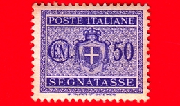 Nuovo - MNH - ITALIA - 1945 - Stemma Senza Fasci, Filigrana Ruota - Segnatasse - 50 Cent. - 5. 1944-46 Lieutenance & Humbert II: