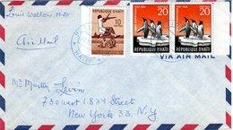 HAITI,   Letter,  Birds    /     Lettre,  Oiseaux    1958 - Pinguine
