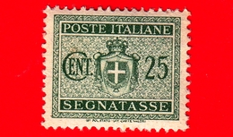 Nuovo - MNH - ITALIA - 1945 - Stemma Senza Fasci, Filigrana Ruota - Segnatasse - 25 Cent. - 5. 1944-46 Lieutenance & Humbert II: