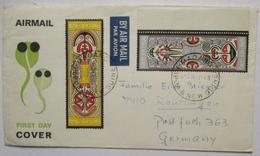 Papua Neuguinea Luftpostbrief 1969 Von Madang Nach Deutschland (67687) - Papua-Neuguinea