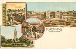 MAROC MARONNO MARRAKESCH CARTE MULTIVUES - Marrakesh