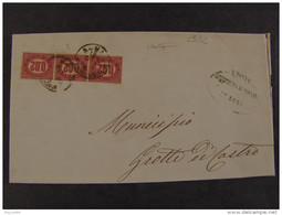 """4534 ITALIA Regno-1875- """"Servizio Di Stato"""" C. 0,02 ROMA>GROTTE Di CASTRO (descrizione) - Servizi"""