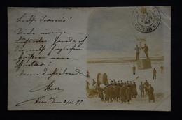 CARTE PHOTO MONGOLFIERE 1897 WIEN AUTRICHE - Montgolfières