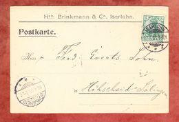 Karte, Brinkmann & Co, EF Germania, Iserlohn Nach Hoehscheid 1903 (69501) - Deutschland