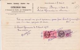 16-Cathelineau Frères..Menuiserie-Charronnerie-Charpentes....Saint-Germain-du-Seudre..par Champagnolles..(Charente).1938 - France