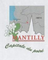 MANTILLY ORNE - CAPITALE DU POIRE, CARTE, EGLISE - FLAMME FLERS LE HOUSSET 2008 - PAP ENTIER POSTAL, VOIR LES SCANNERS - Vacances & Tourisme