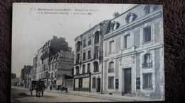 CPA MONTREUIL SOUS BOIS 93 BANQUE DE FRANCE ET LE BOULEVARD CHANZY ED  BF 57 ATTELAGE - Montreuil