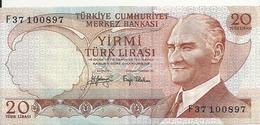 TURQUIE 20 LIRA 1974 AUNC P 187 A - Turquie