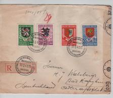 PR6307/ TP539-541-543-544 Surtaxe S/L.Recommandée C.Palais Des Beaux Arts 1941 Censure 'c' V.Allemagne - Brieven