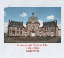 AUREAU EURE ET LOIR - CENTENAIRE DE L HOTEL DE VILLE - FLAMME DU VILLAGE 2008, PAP ENTIER POSTAL, VOIR LES SCANNERS - Vacances & Tourisme