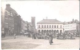CARTE PHOTO BELGIQUE  WW1 ATH La Place, Le Marché  Etat Avant 1914 Circulé En 1918 - Ath