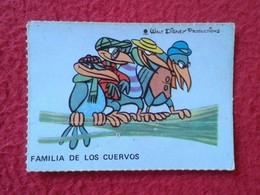 SPAIN ESPAGNE.ANTIGUO OLD CROMO ESTAMPA WALT DISNEY PRODUCTIONS COLLECTIBLE CARD FAMILIA DE LOS CUERVOS CROWS RAVEN VER - Otros