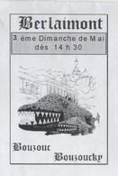 BERLAIMONT NORD - FETE BOUZOUC BOUZOUCKY ( DRAGON ) PAP ENTIER POSTAL 2008, VOIR LES SCANNERS - Fêtes