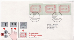 Great Britain FDC With Machine Stamps - Machine Stamps (ATM)