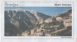 BRANTES VAUCLUSE - VUE DU VILLAGE ET MONT VENTOUX, FLAMME NEOPOST 2008, PAP ENTIER  POSTAL, VOIR LES SCANNERS - Vacances & Tourisme