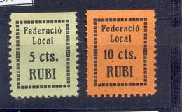 """Rubí """" Federació Local """" 1180/1 Gómez Guillamón - Emisiones Repúblicanas"""