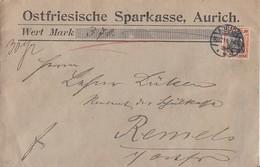 DR Wertbrief EF Minr.89I Aurich 30.12.11 Gel. Nach Remels - Deutschland