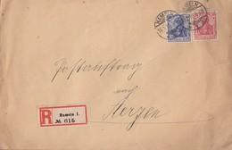 DR R-Brief Postauftrag Minr.86,87 Hameln 15.1.16 Gel. Nach Aerzen - Deutschland