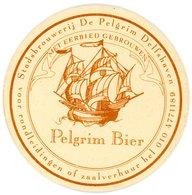 Nederland. Pelgrim Bier. Stadsbrouwerij De Pelgrim Delfshaven. Met Eerbied Gebrouwen. Voor Rondleidingen Of Zaalverhuur - Bierviltjes