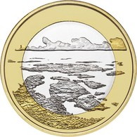 "FINLANDIA  5€ 2.018  2018  Bimetálica ""Paisajes Nacionales – Mar Del Archipiélago""  SC/UNC T-DL-12.261 - Finland"
