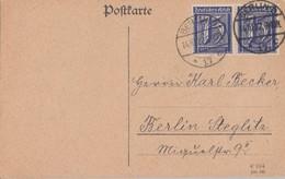 DR Ortskarte Mef Minr.2x 185 Berlin 14.10.22 - Deutschland