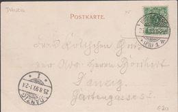 1899. Königsberg I. Pr. Schlossteich.. POSTKARTE 5 Pf. Germania. DANZIG 25.8.99 () - JF310359 - Danzig