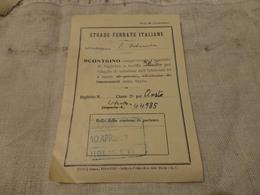 BIGLIETTO PALERMO -AOSTA-BIGLIETTO GRATUITO 1951 - Chemins De Fer