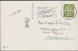 1937.. POSTKARTE Ein Glückliches NEUES JAHR. 8 Pf. DANZIG 31.12.37 Benütz Die Luftpos... (michel 273) - JF310387 - Dantzig