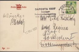 1937.. POSTKARTE Fröhliche Pfingsten. 8 Pf./7 Pf. DANZIG 14.5.37 DAPOSTA 1937 Danzige... (michel B241) - JF310389 - Dantzig